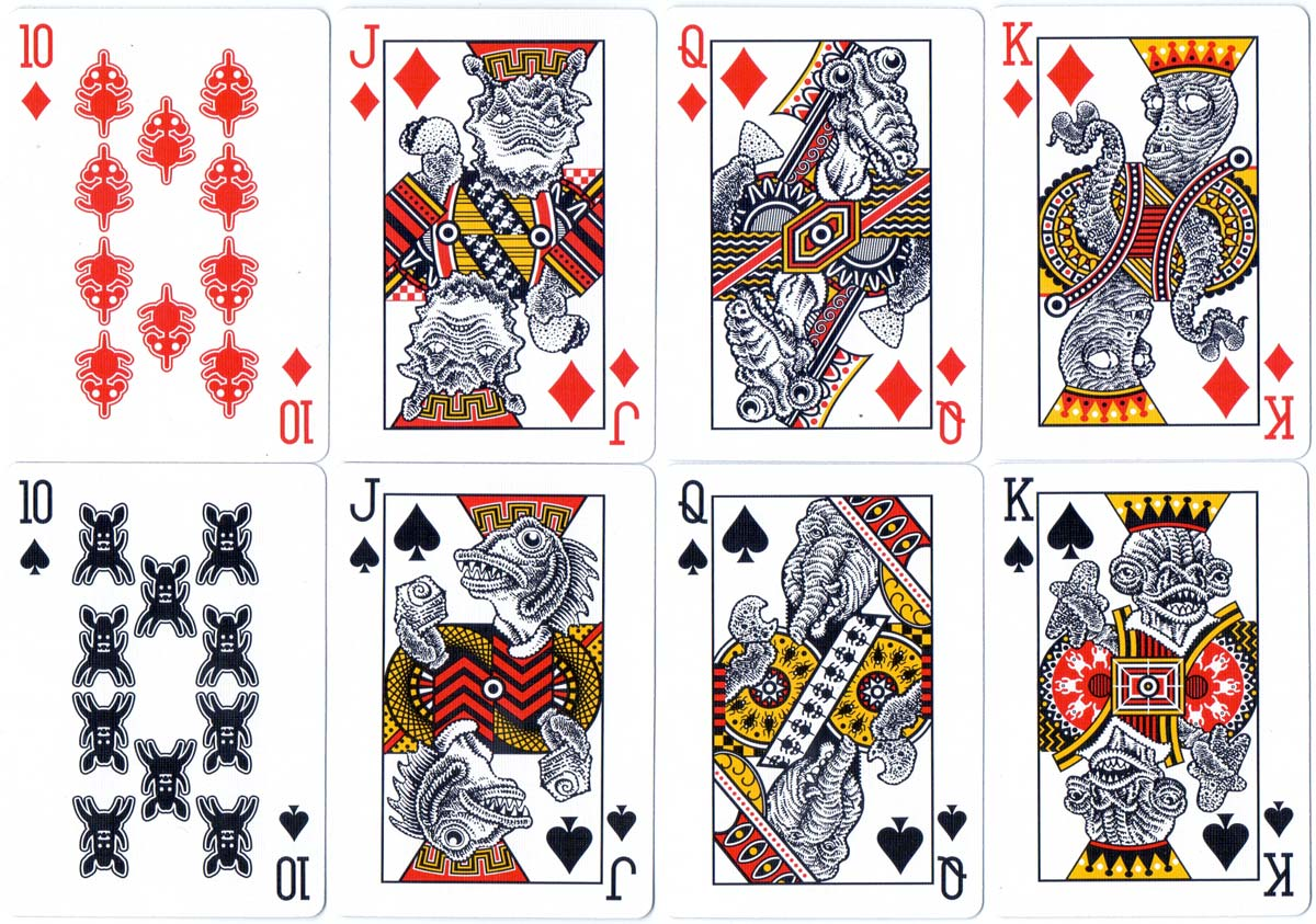 """""""Creature Comfort"""" playing cards designed by Don Moyer, 2017"""