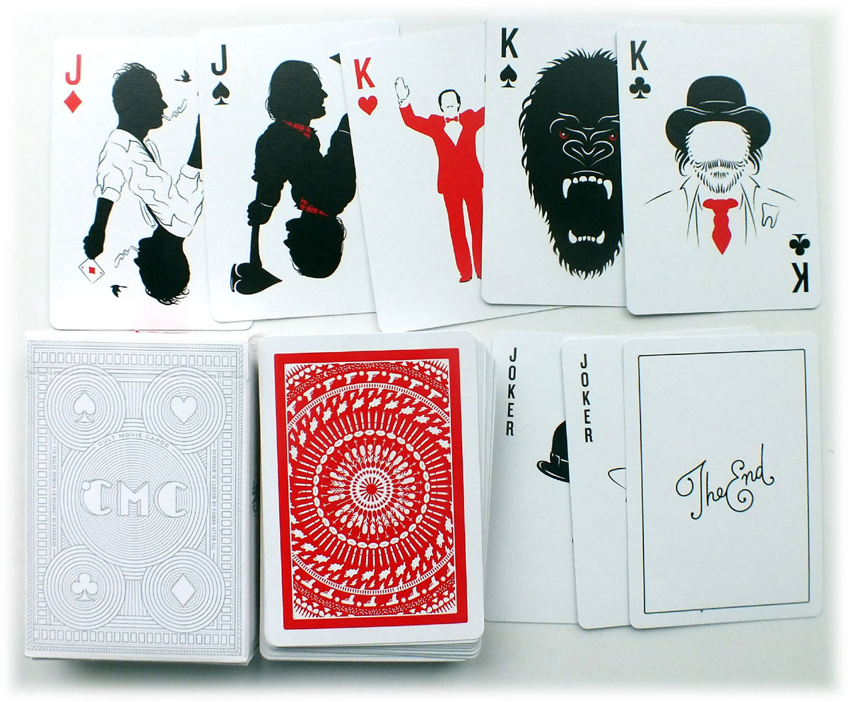 """""""Cult Movie Cards"""" designed by Paul Willoughby, 2014"""