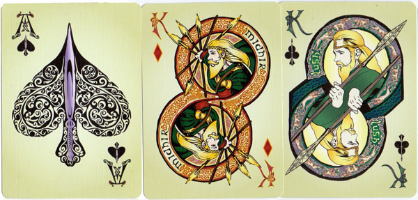 """Cultúrlán"" Celtic myth playing cards"