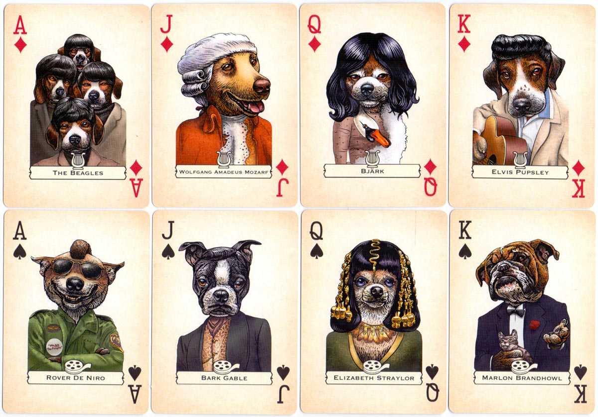 'Dogs' playing cards created by Chet Phillips, 2016