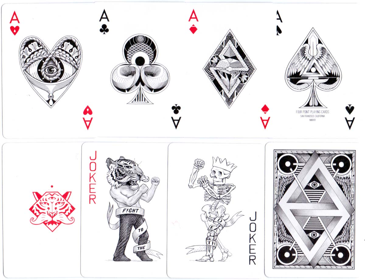 """Four Point"" playing cards designed by Ben Vierck, 2014"