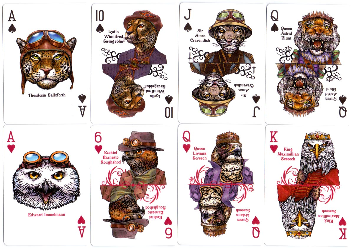 """Steam Ark"" playing cards illustrated by Chet Phillips, 2014"