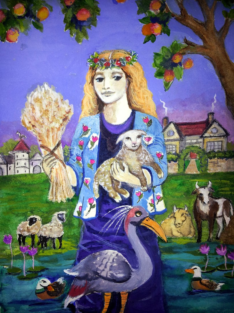 the Empress from a set of tarot cards designed and painted by Alison McDonald