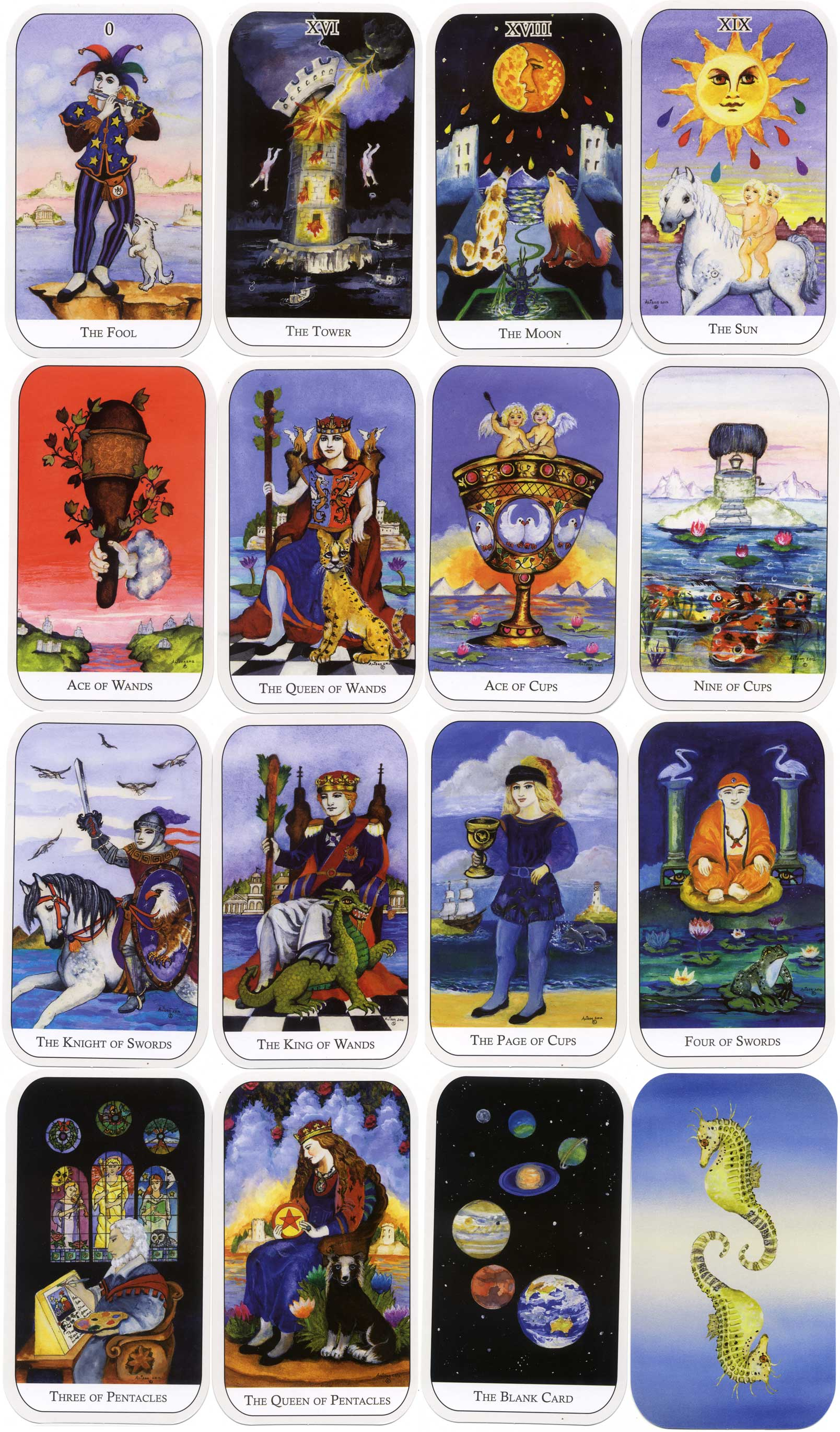 'The Watersprite Tarot' created by Alison McDonald, 2012