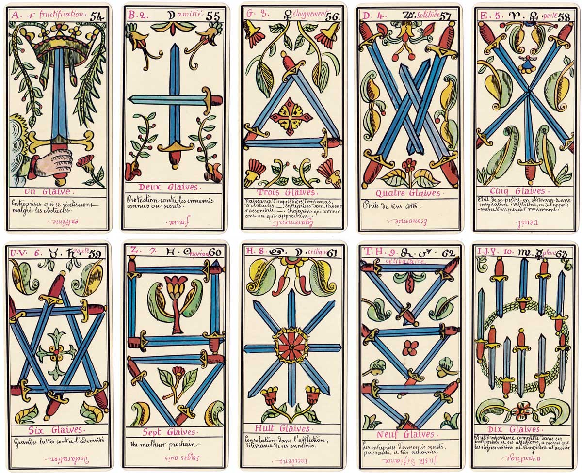 Le Grand Tarot Belline after drawings by Edmond Billaudot published by Grimaud 1966