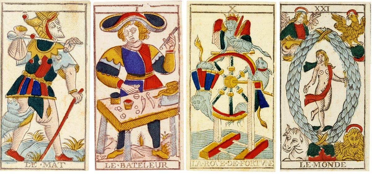 """""""Marseillais"""" Tarot cards by Conver (1809-1833)"""