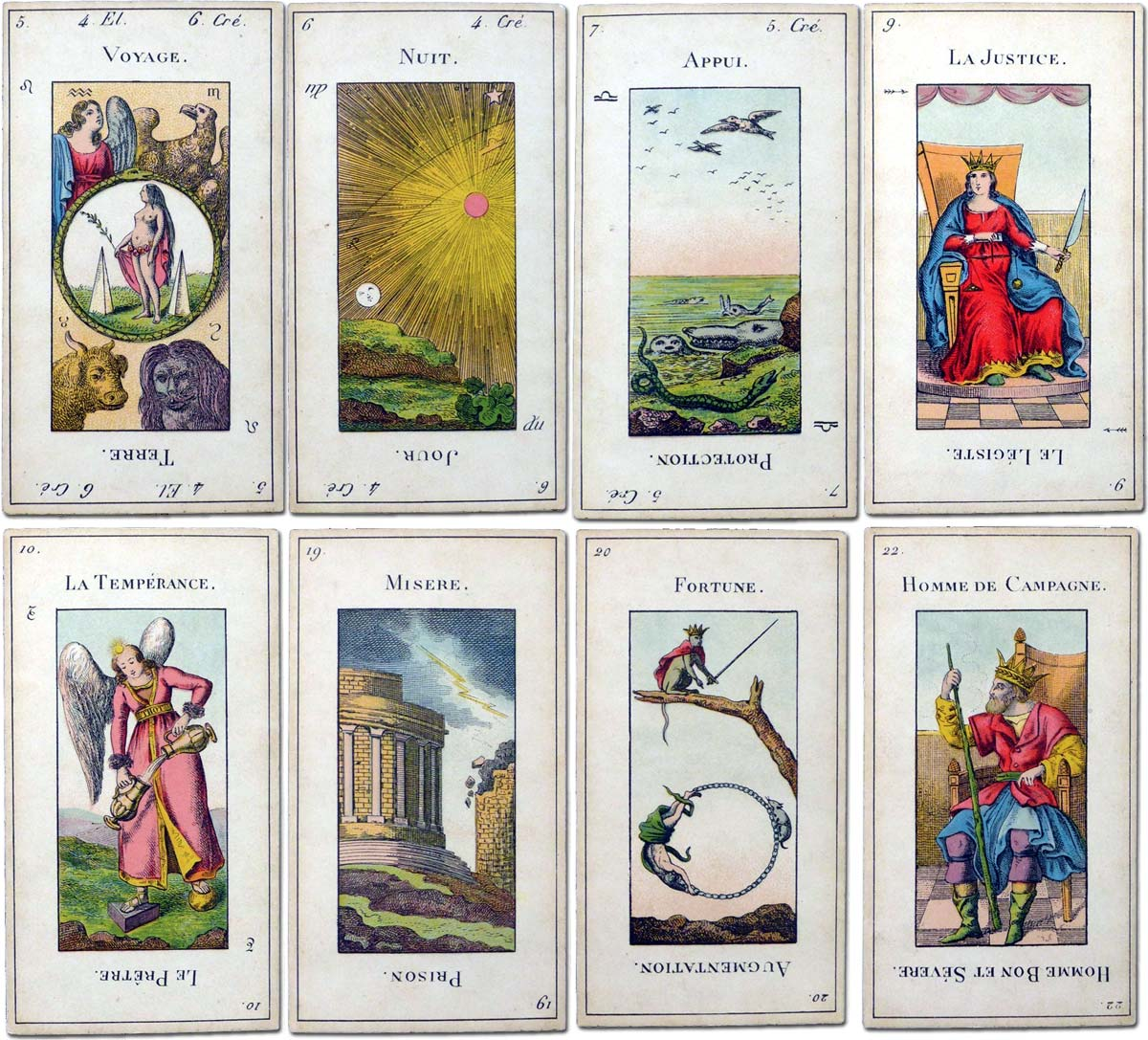 Etteilla tarot published by Grimaud, Paris