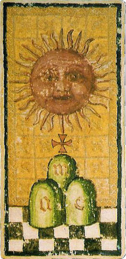 the 'Sun' from the Goldschmidt tarot