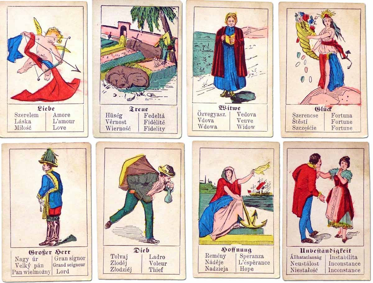 Fortune Telling Cards manufactured in Austria by Wilhelm Hegenauer, c.1890