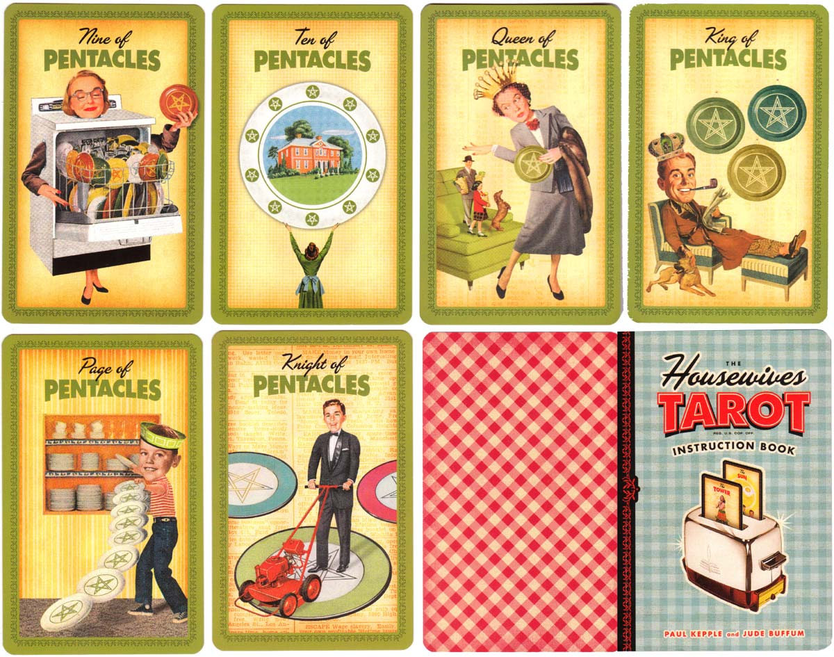 The Housewives Tarot designed by Paul Kepple & Jude Buffum, published by Quirk Books, 2004