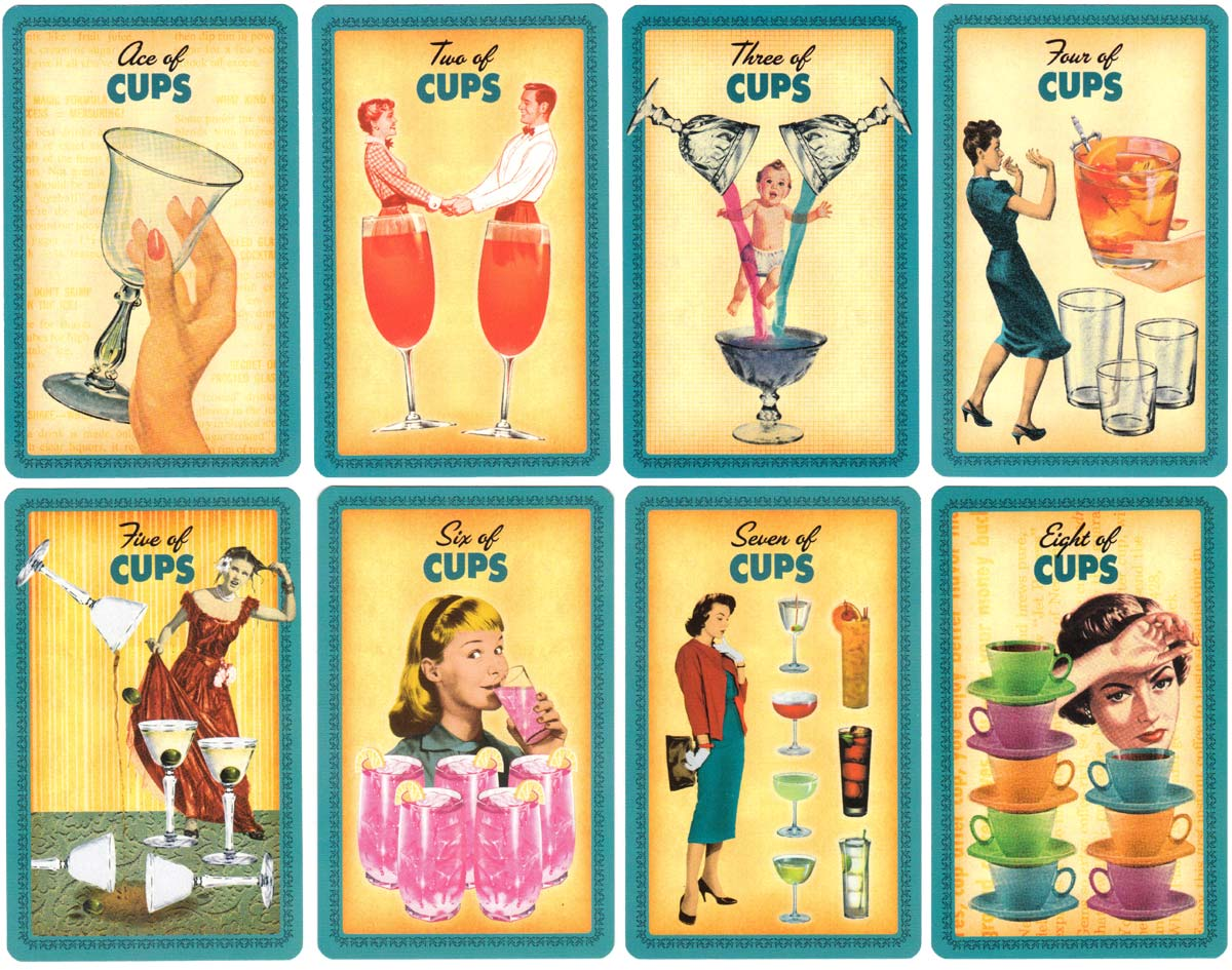 The 'Housewives Tarot' designed by Paul Kepple & Jude Buffum, published by Quirk Books, 2004