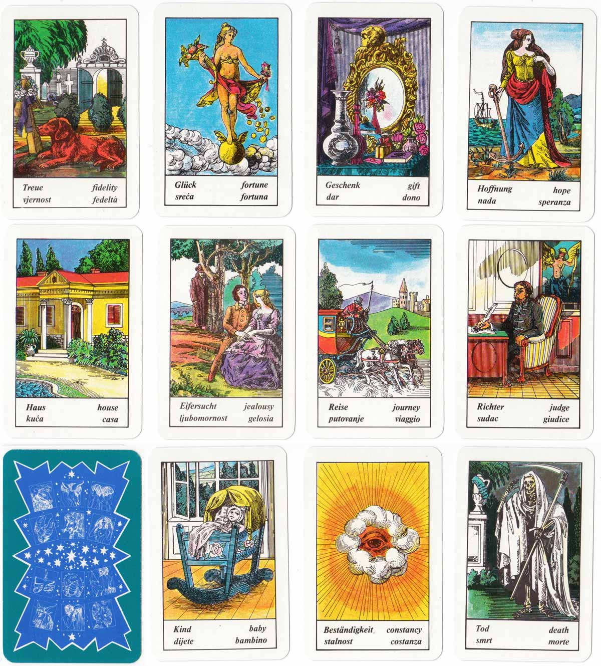 Hungarian Fortune Telling Cards