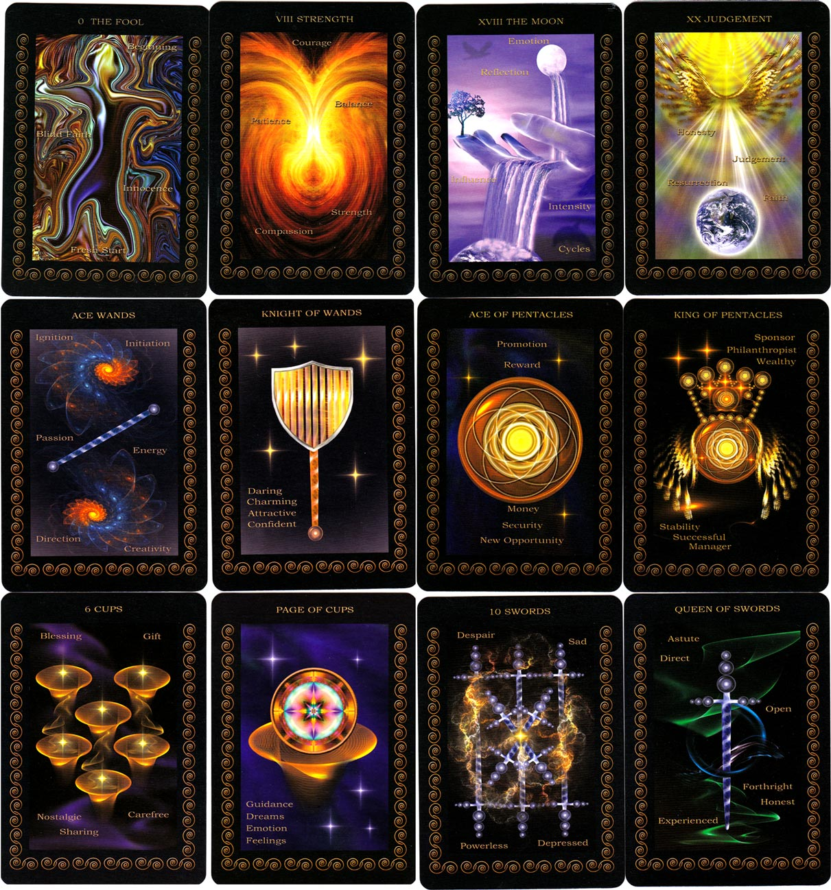 Inner Realms Tarot, designed by Saleire, 2012