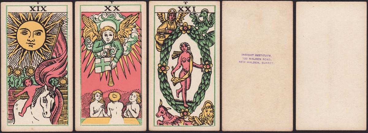 Insight Institute Tarot, first published c.1948