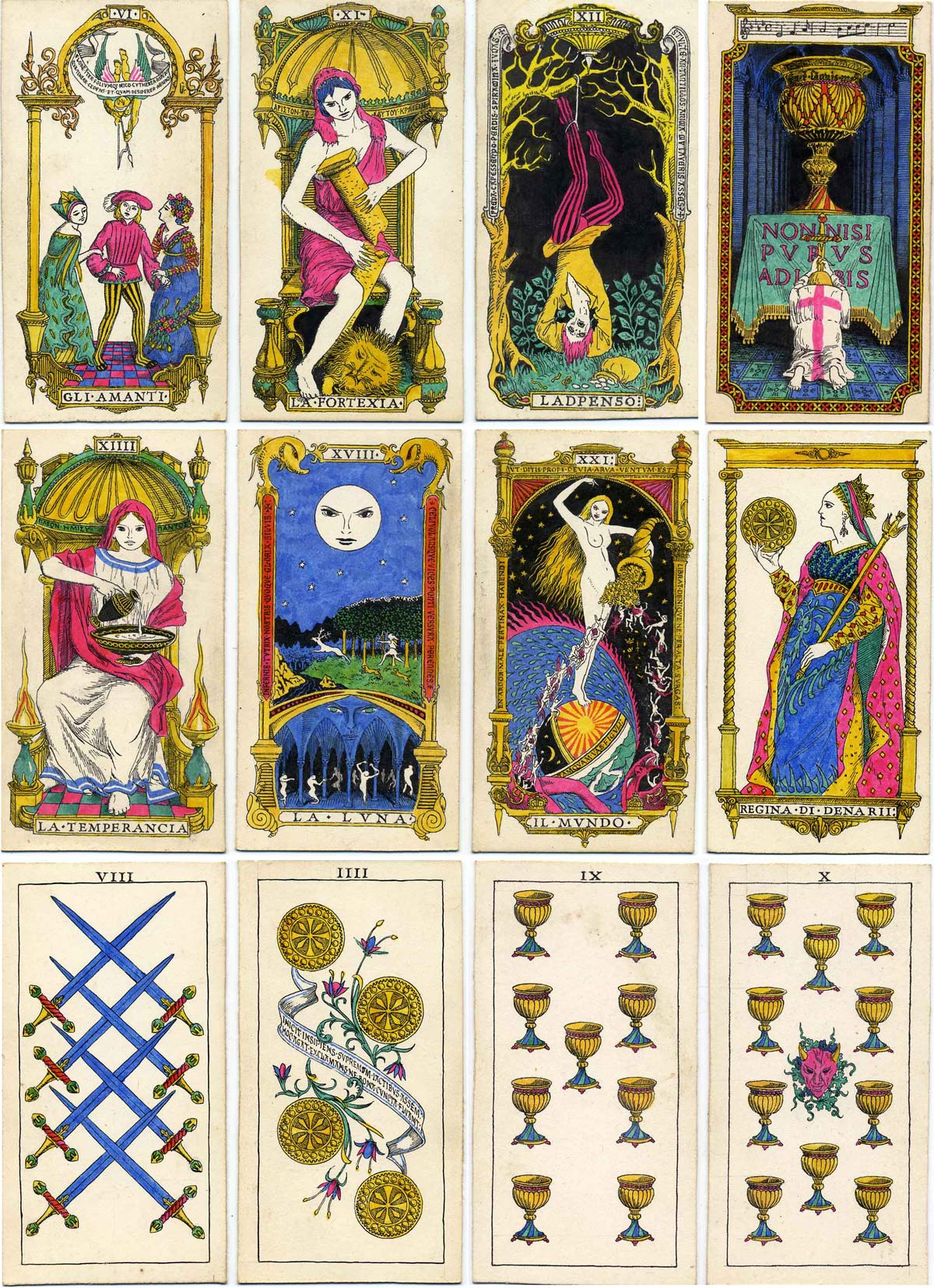 Original tarot designs in Italian Renaissance style by Oliver Mundy
