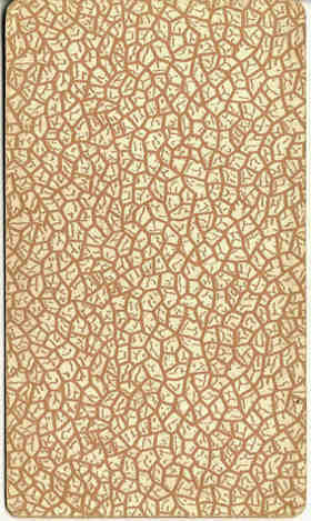 brown crackled back design from 'Pam-A' edition of Rider-Waite tarot, 1910-20