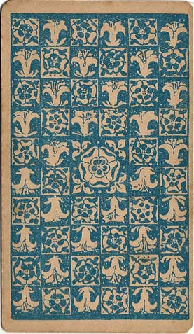 Roses & Lilies back design from first edition of Rider-Waite tarot, 1909