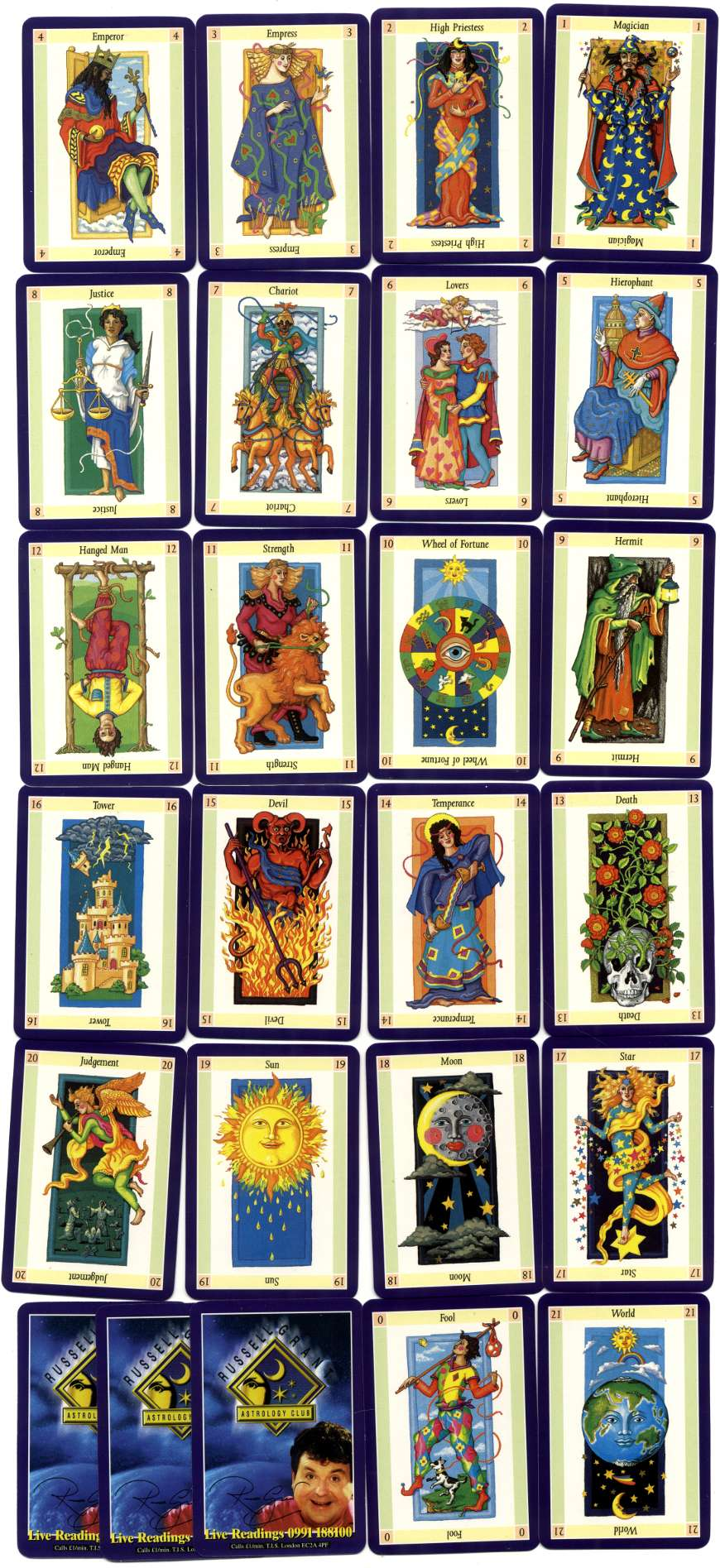 Russell Grant's Astrology Club Tarot cards
