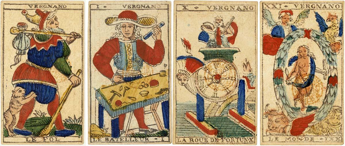 Tarot cards by Vergnano, c.1827