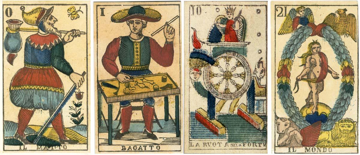 Tarot cards by Vergnano, c.1845