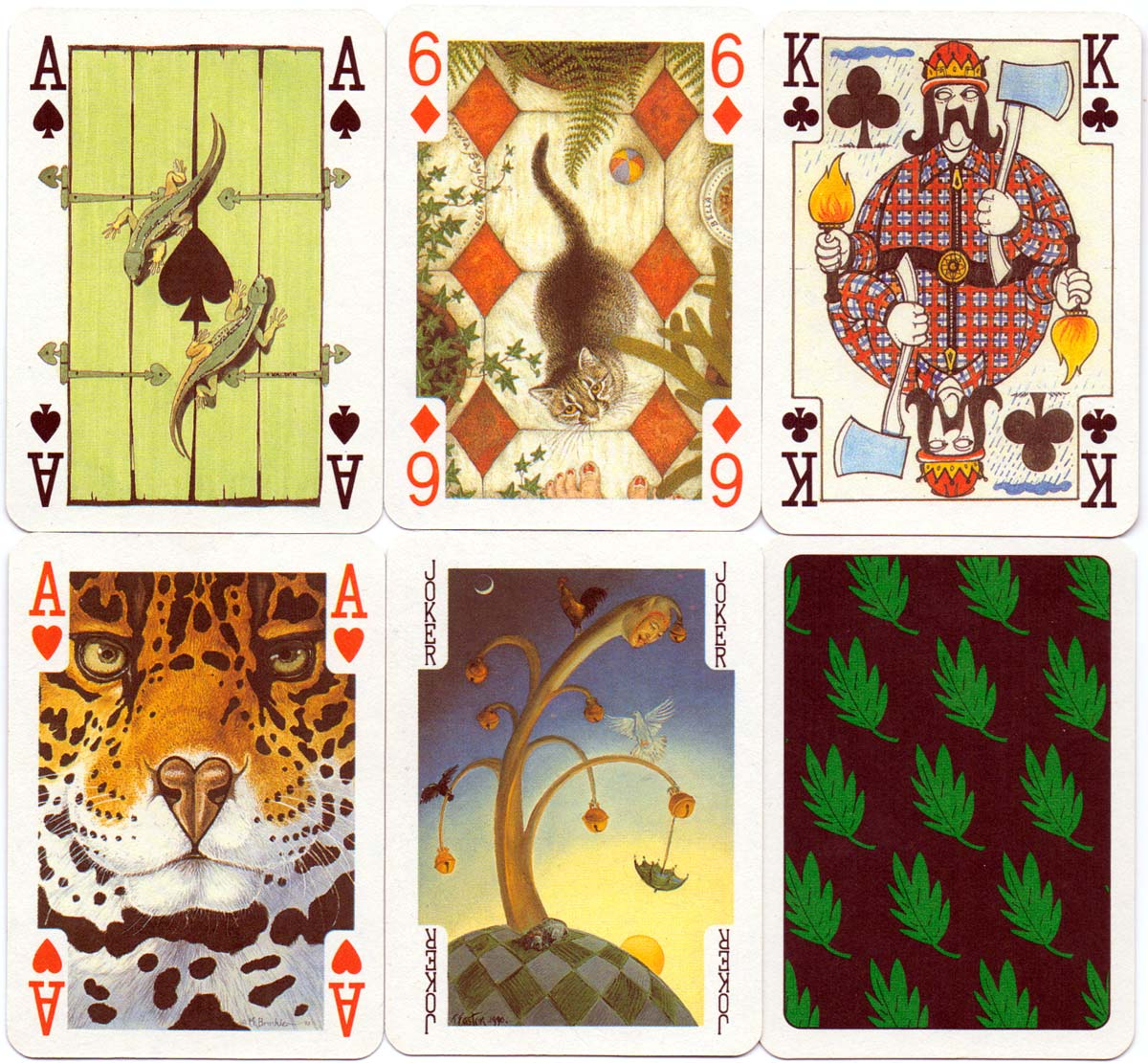 Art for the Earth Playing Cards published by Andrew Jones Art for The Friends of the Earth, 1992