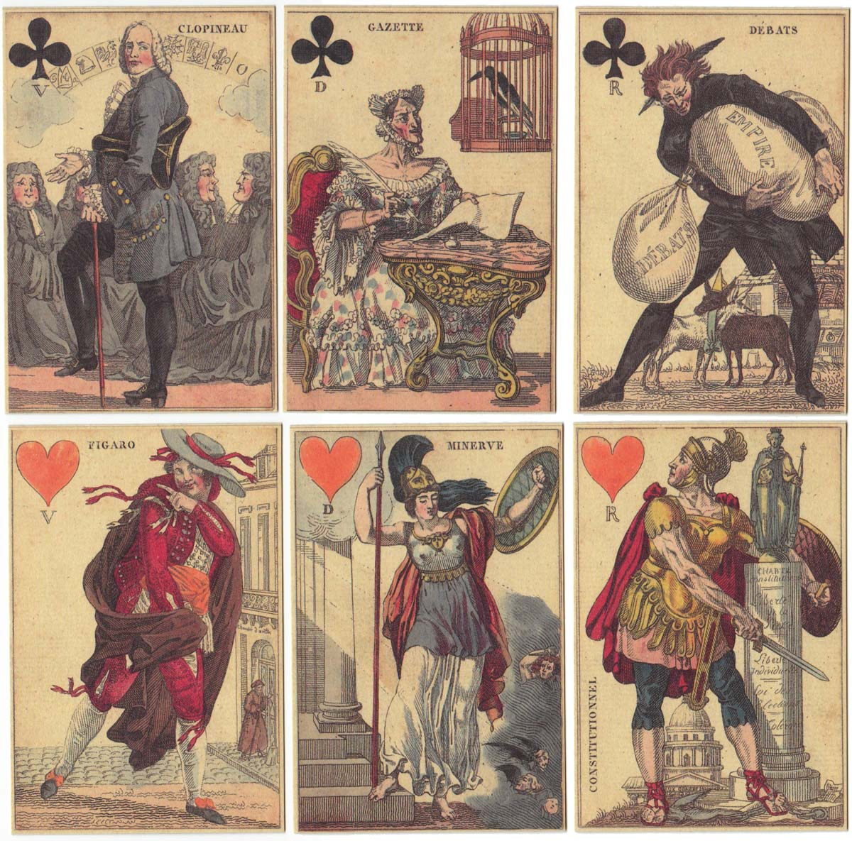 """Cartes à Rire"", Paris, 1819"