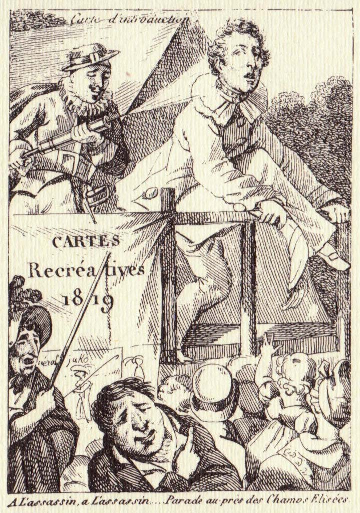 Title card from Cartes Recréatives, 1819