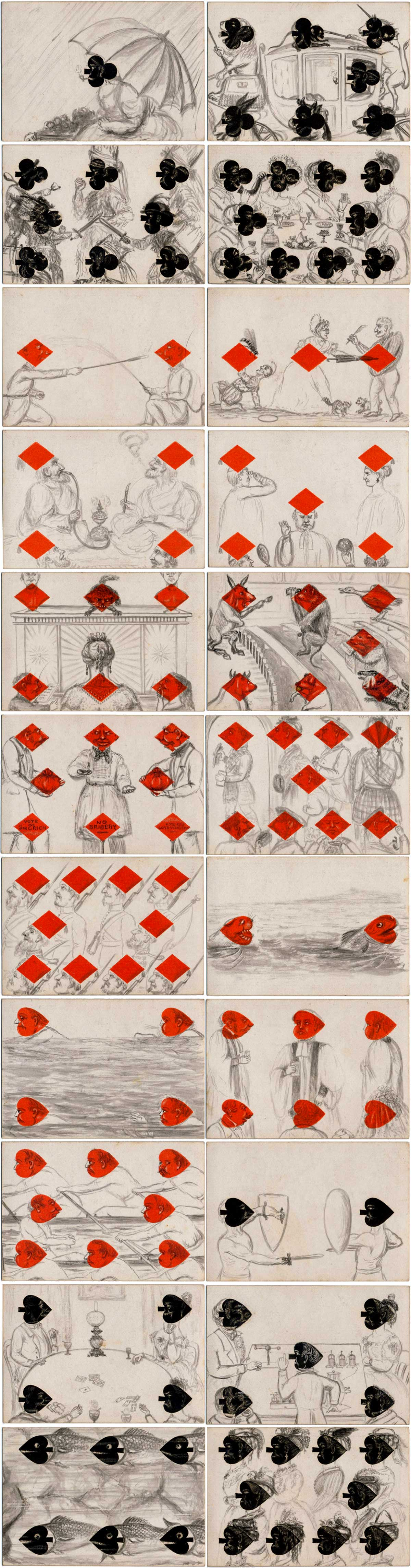 Hand-drawn transformation pack dated 1874