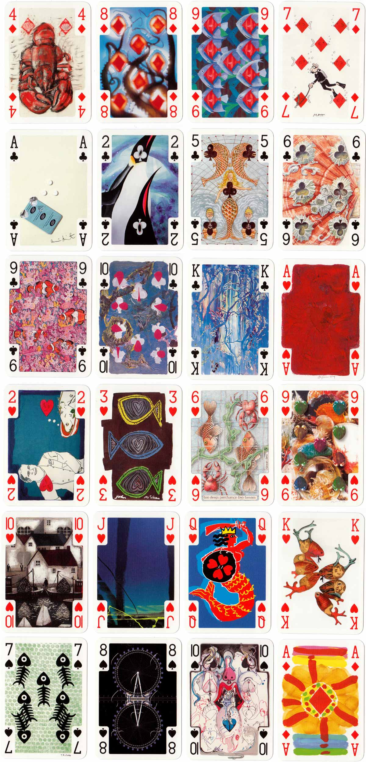 Under the Sea transformation playing cards, published in 2005