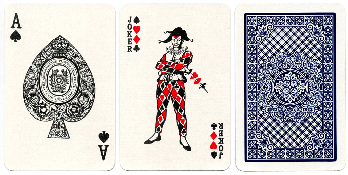 'Crown' Playing Cards manufactured by The Amalgamated Playing Card Co., Ltd c.1965