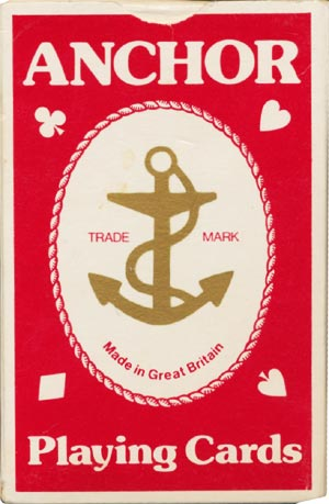 Anchor playing cards, 1980s