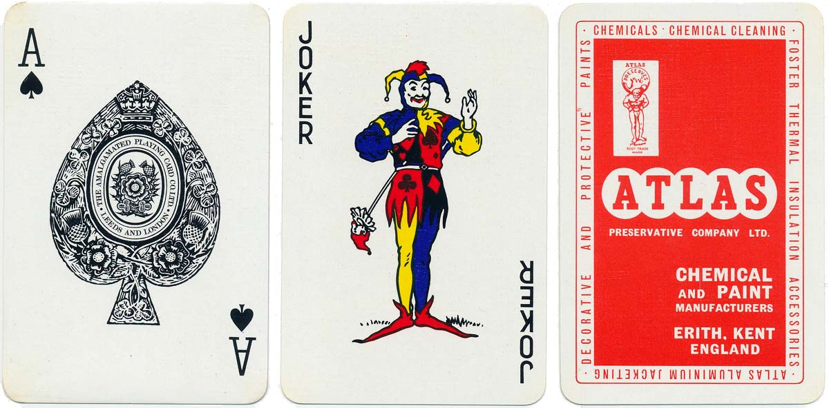 Playing Cards manufactured by The Amalgamated Playing Card Co., Ltd c.1970