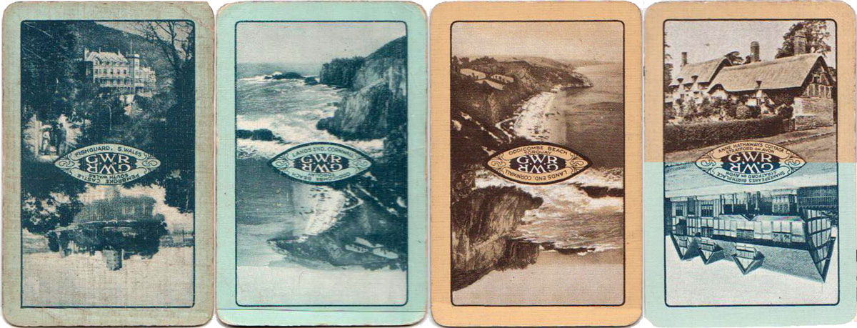 'Beautiful Britain' back designs sponsored by the Great Western Railway, 1924