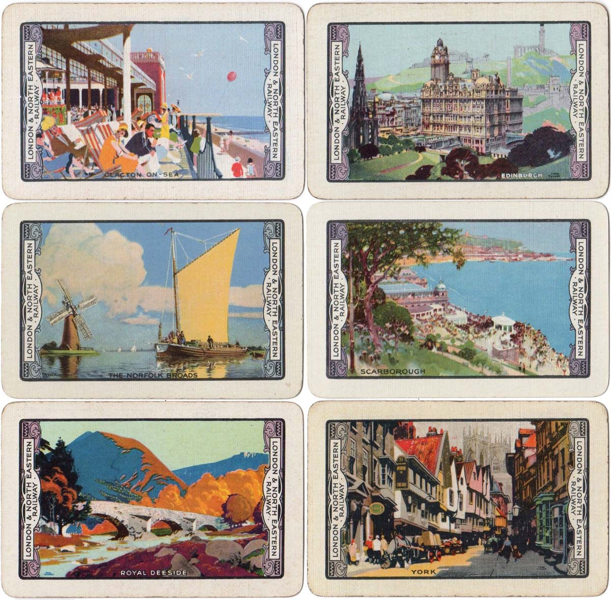 'Beautiful Britain' back designs sponsored by the London and North Eastern Railway, 1925-26