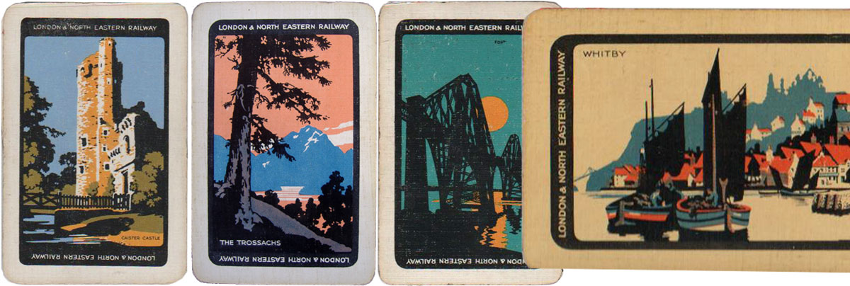 'Beautiful Britain' back designs sponsored by the London and North Eastern Railway