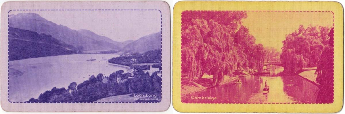 'Beautiful Britain' back designs, 1930