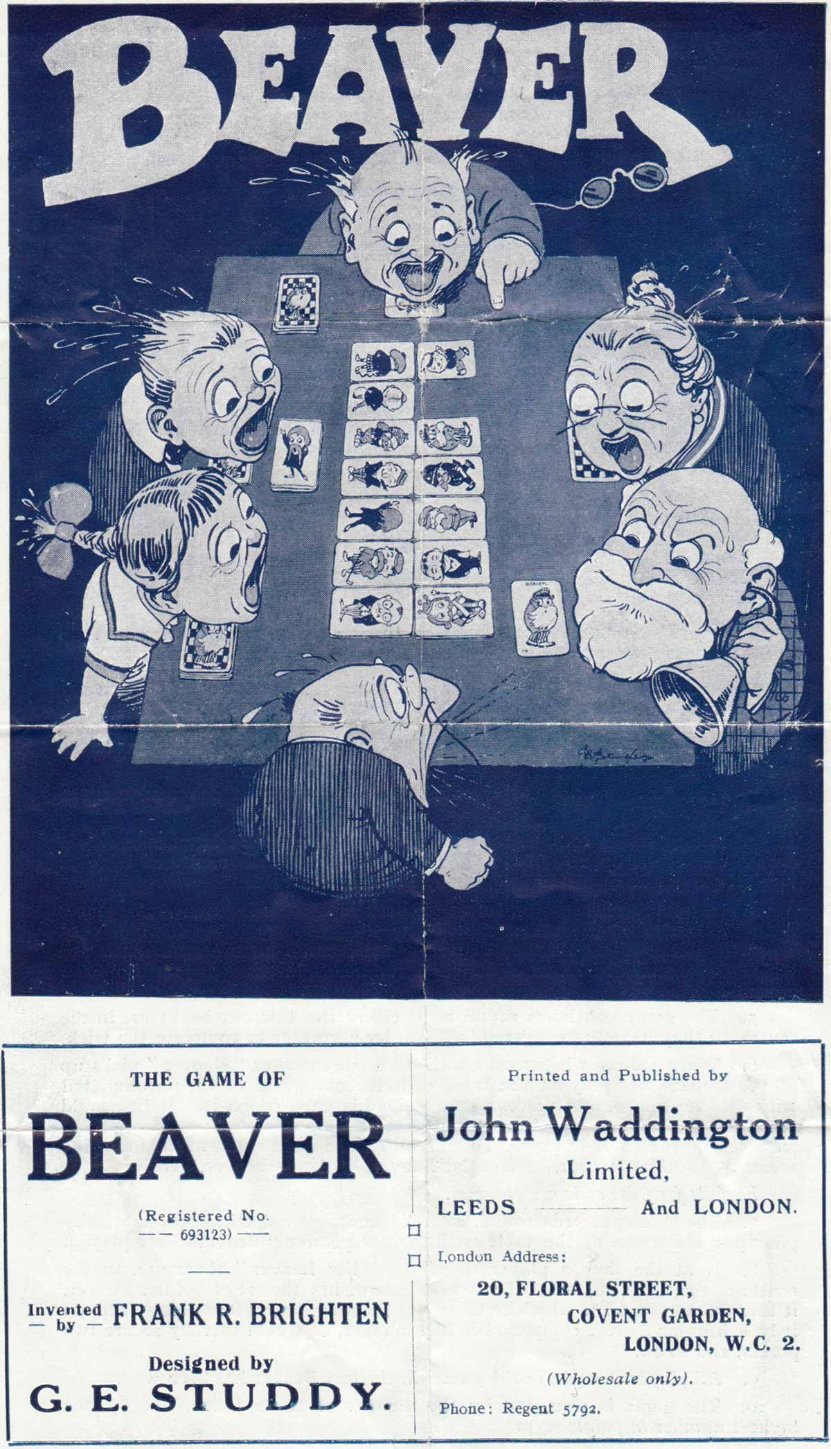 the Game of Beaver published by John Waddington Ltd in 1927