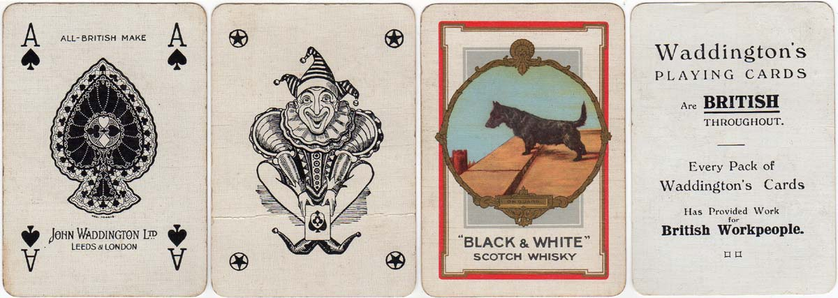 Advertising Deck for Black and White Scotch Whisky by Waddingtons