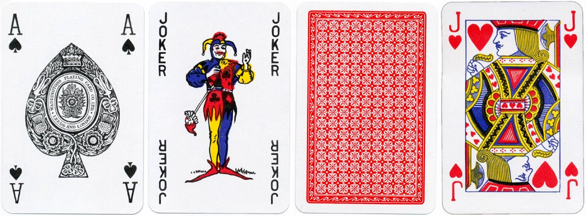Bridge playing cards printed by Waddingtons, c.1980