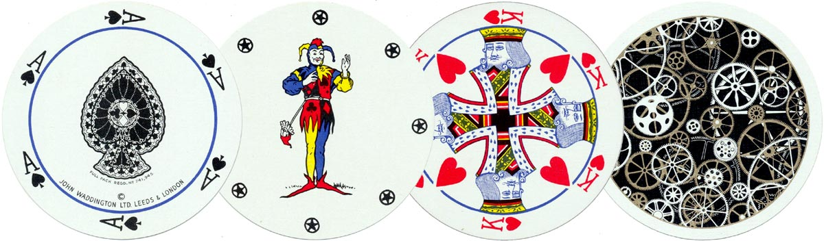 Rondo Circular playing cards manufactured by John Waddington Ltd