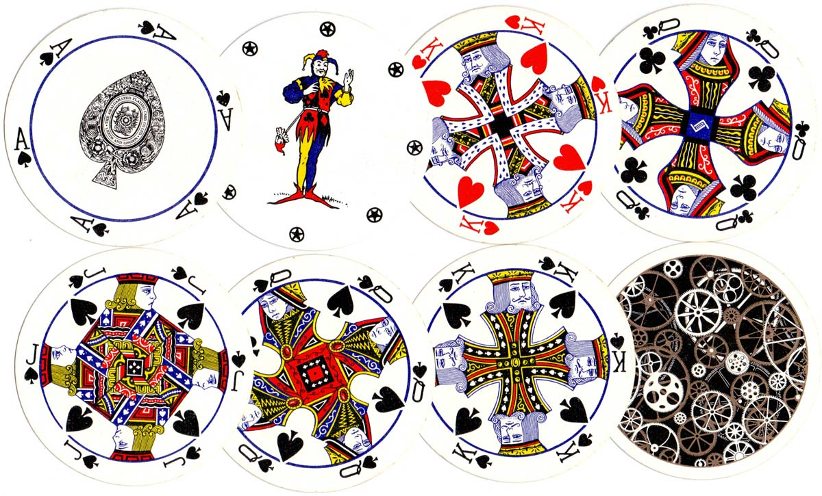 Circular Playing Cards manufactured by The Amalgamated Playing Card Co., Ltd c.1970