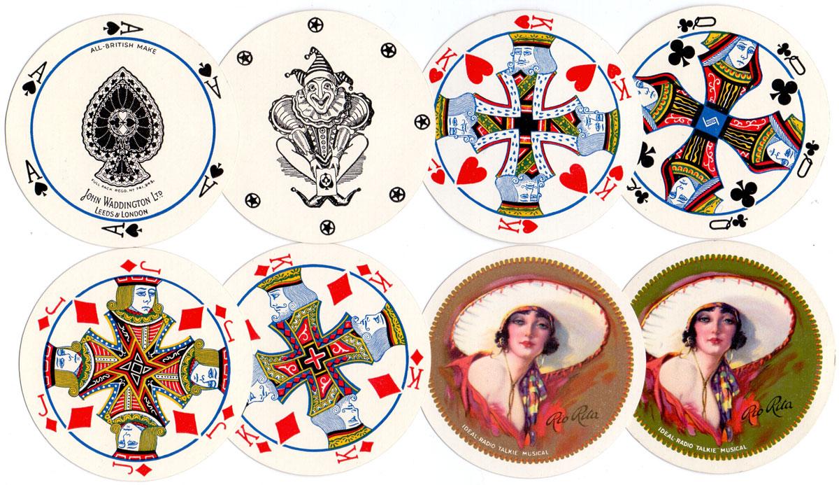 Cir-Q-Lar Playing Cards manufactured by John Waddington Ltd c.1929