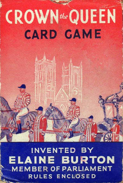 Crown the Queen card game designed by Elaine Burton, c.1953