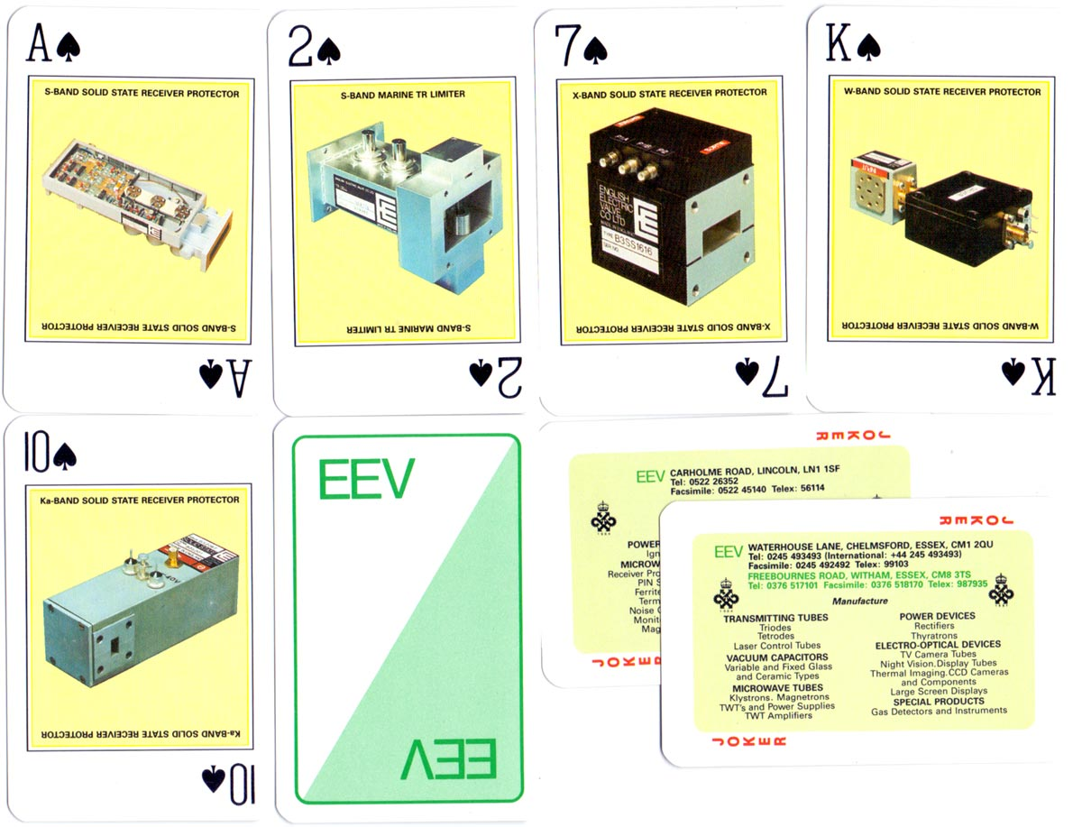 Special pack made for the English Electric Valve Company Ltd Chelmsford, 1989