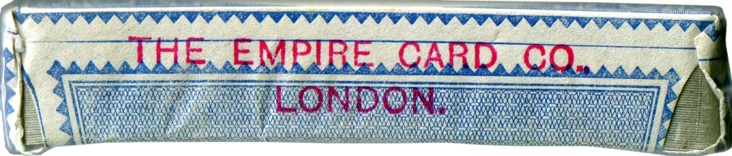 "pack by Waddingtons with unusual joker and stamped ""The Empire Card Co London"" on the tax wrapper, c.1955"