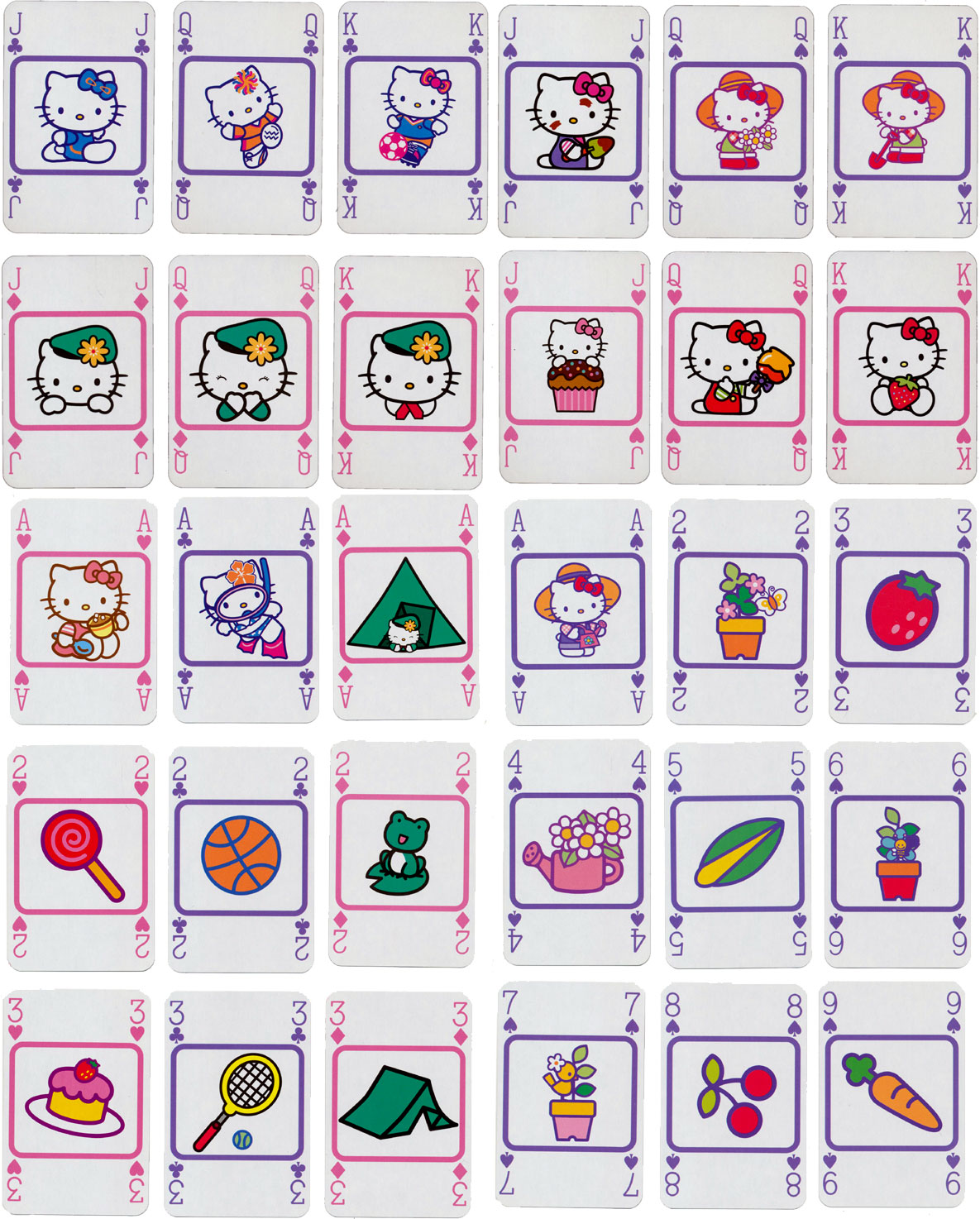"Waddington's ""Hello Kitty"" themed deck produced in 2009"
