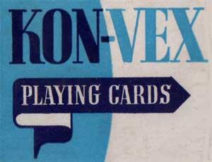 Kon-Vex playing cards, c.1953