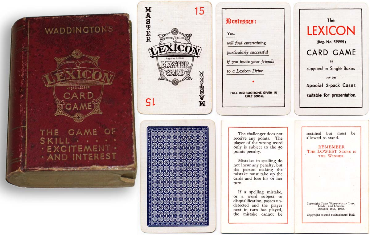 Lexicon card game, c.1933