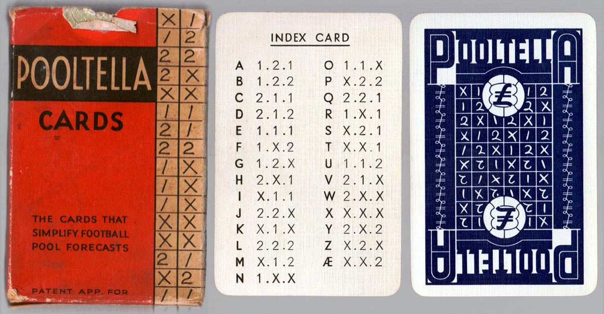 Pooltella by Waddingtons, the cards that simplify football pool forecasts