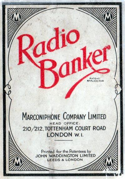Radio Banker by John Waddington Ltd for Marconiphone Co Ltd, c.1930